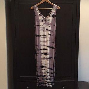 Midi length tie dye dress